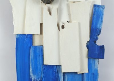 Slabs of Wood, Blue and White, 34 x 18