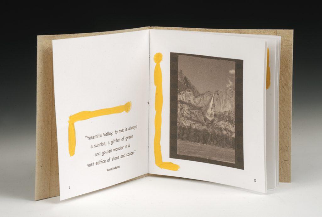 Yosemite Chap Book, Detail