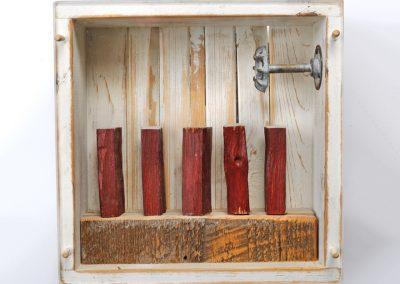 Broken Tobacco Stick, 12 inches square, x 4 inches