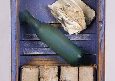 Message in a Bottle, 15 1/2 x 11 1/2 x 3