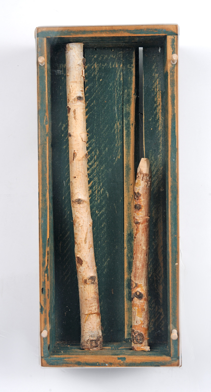 Two Birch Sticks 19 ½ x 8 x 4