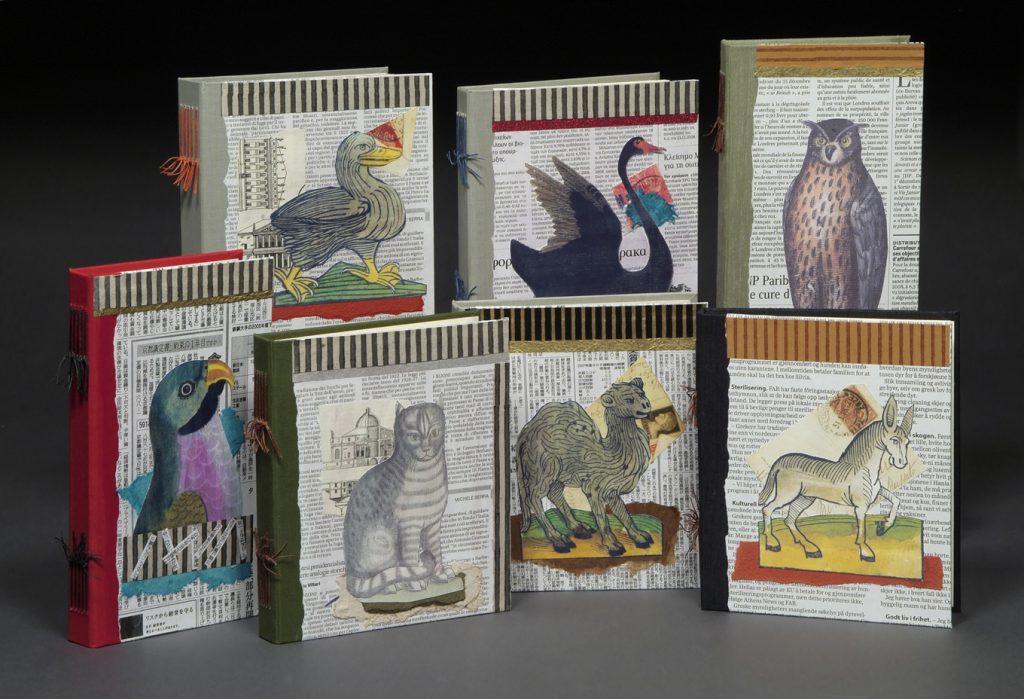 Animal Newspaper Collage Books
