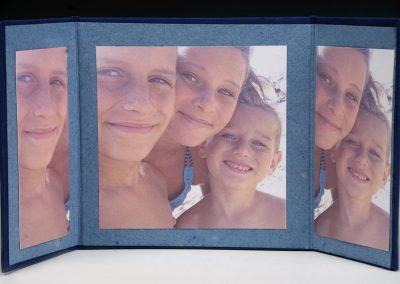 Triptych entitled Beach Children