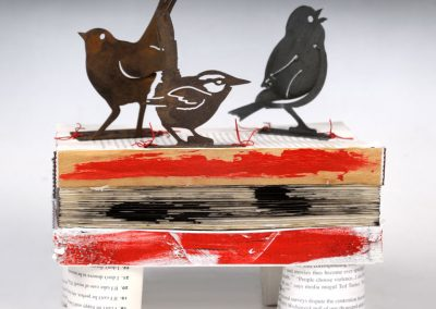 Birds on a Book. 10 x 7 x 11